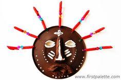 African Paper Plate Mask Craft   Kids' Crafts   FirstPalette.com