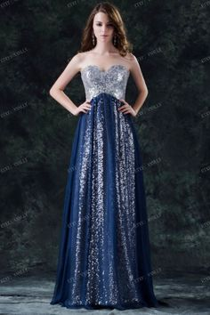 2014 sequin cheap prom dress  long prom dress chiffon by vnnlly, $55.00. But I wound want it to have straps.