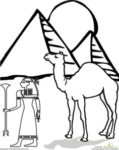 Help your child get a feel for some of the features of Ancient Egypt with this coloring page.