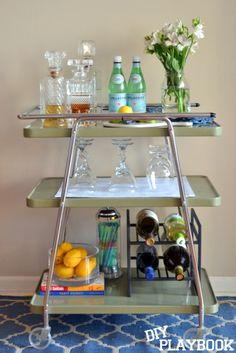 styling 101 how to style a bar cart - How To Style A Bar Cart