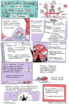 Rebecca's Journey – Flu Journal Book Illustration, Flu, Funny Stuff, Journey, Notes, Comics, Projects, Collection, Funny Things