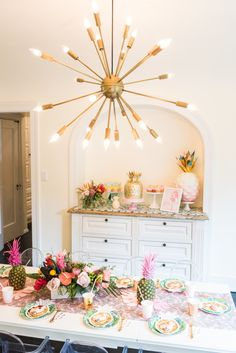 Tropical party decor: http://www.stylemepretty.com/living/2017/03/06/ladies-who-luau-birthday-celebration/ Photography: Annamaria - http://annamaria-photography.com/