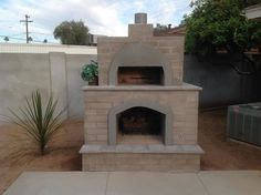 outside fireplace with pizza oven - Google Search