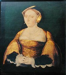 Shadow Cast Portrait of Queen Jane Seymour. Believed to be painted during her short reign as Queen.