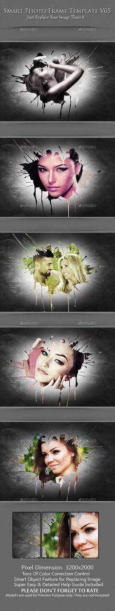 Smart Photo Frame Template V05 #sleek #layout Download : https://graphicriver.net/item/smart-photo-frame-template-v05/9105972?ref=pxcr