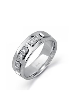 df2f02021c9 Give a symbol of love that will last forever with this beautiful Simon G  wedding band