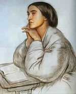 """Portrait of Christina Rossetti by her brother Dante...this woman penned sweet hymns like """"None Other Lamb"""" and """"In The Bleak Midwinter,"""" as well as the famous poem """"Goblin Market."""" I love her words."""