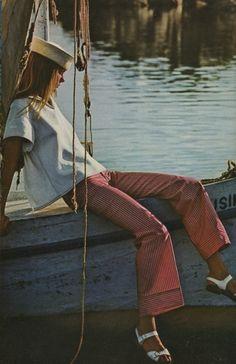 sailor girl. 1970s fashion