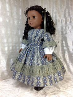 1850s gown for your American Girl doll Cecile by DollSizeDesigns, $89.00