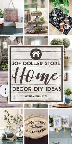 30+ Brilliant DIY Dollar Store Home Decorating Ideas | Of Life and Lisa