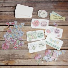 Mix and Match Notes stickers and cards