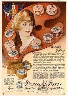 Dorin of Pari's rouges – Beauty's Palette (1922)
