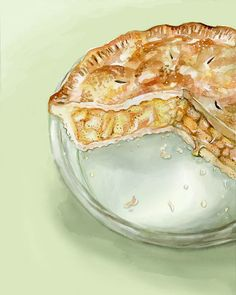 Apple pie food illustration by Alicia Severson