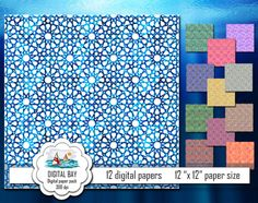 ARABIC ORNAMENT  Digital paper pack  Instant by DigitalBay on Etsy