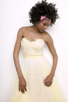 Only a few can work the yellow wedding dress; and she's done it perfectly. <3