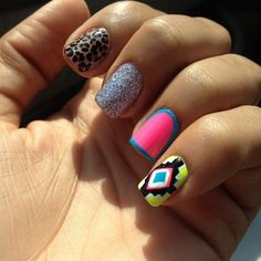 This is kind of a random  design....but I love the last nail!