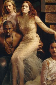 Florence Welch & Kanye West by Annie Leibovitz for Vogue US March 2012