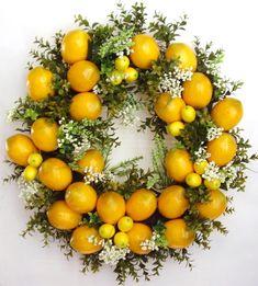 Spring Wreath Lemon Wreath Summer Wreath Mother's by WreathbyHH