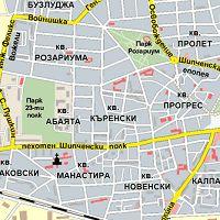 Karta Na Kazanlk S Ulici Adresi Marshrut Map Map Screenshot