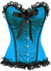 Blue Burlesque Corset and naturally a fully steel boned corset to enhance your curves. This burlesque corset is also available as a plus size corset as are all the steel boned corsets on this site. Corset Sexy, Burlesque Corset, Blue Corset, Corset Outfit, Overbust Corset, Boned Corsets, Burlesque Costumes, Halloween Costumes, Corset Steampunk