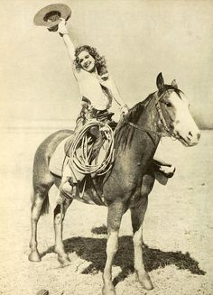 Actress Lili Damita riding a horse in Fighting Caravans, 1929. Errol Flynns first wife.