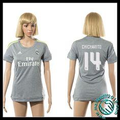 Acheter Un Maillot Real Madrid (Chicharito 14) Femme Extérieur 2015/2016 pas cher