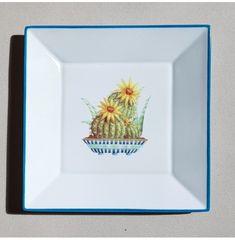 Vide-poches Cactus bleu turquoise