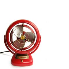 Whoever heard of a cherry red Vornado fan? Outrageous! (The Vornado company was born in Kansas.)