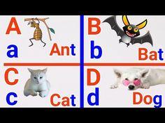 3 letters word , a for apple , a for ant , spelling, Alphabet , learn ABCD , abc for kids - YouTube Alphabet Nursery, Alphabet Songs, Nursery Rhymes, 3 Letter Words, Letters, Rhymes Video, Abc For Kids, Ants, Spelling