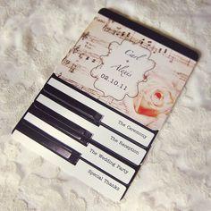 Piano Wedding Program - Vintage Layered Music Programs - SAMPLE - 9260929-P via Etsy