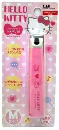 Sanrio Hello Kitty Pink Nail Clipper Scissors by sanrio. $12.99. The blade: Stainless steel blade  lever: reinforced nylon cover: plastic ABS (containing antibacterial agent),  stop: polypropylene (containing antibacterial agent)  FILES: Stainless Steel