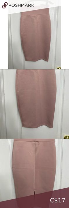 Pretty pink skirt below knee length Knee length pink pencil skirt extreme high rise Worn just once as doesn't fit me anymore!! Great condition size smalllll Skirts
