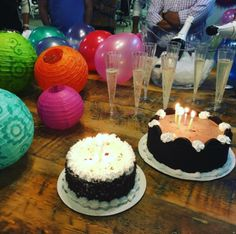 Champagne and ice cream cake go hand and hand to celebrate birthdays and accomplishments of entrepreneurs.