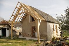 Farm house in Corrèze #timber framing