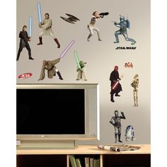Star Wars Episodes 1 - 3 Peel and Stick Wall Decal, Multi