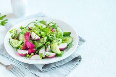 Spicy vegetable adds zip across the menu Radish Salad, Cobb Salad, Food Trends, Fresh Rolls, Green Beans, Feta, Cucumber, Food To Make, Spicy