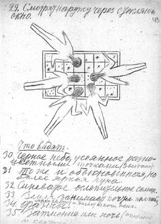 sketch from tsiolkovsky s essay ldquo album of space travel english from tsiolkovsky s 1933 paper album of space travel manuscript page drawing of floating people looking at stars through a window