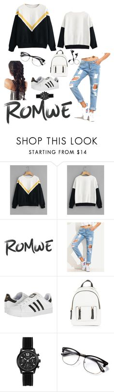 """Bez naslova #59"" by sejlabrkic ❤ liked on Polyvore featuring adidas, New Look, GUESS and Urbanista"
