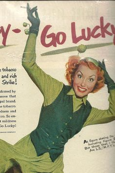 1940's Lucky Strike Cigarette Advertisement by TheIDconnection, $10.00
