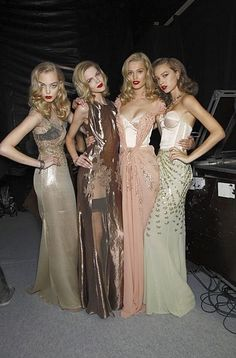love the gowns