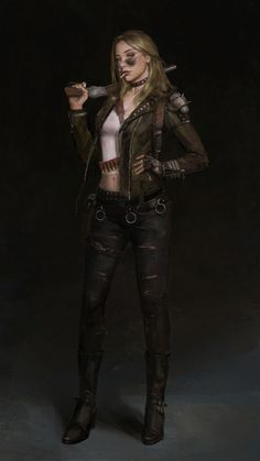 Art by Ningbo Jiang Female Character Design, Character Design Inspiration, Character Art, Apocalypse Character, Apocalypse Art, Character Portraits, Character Outfits, Anime Krieger, Cyberpunk 2020
