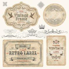Vintage Labels Royalty Free Stock Vector Art Illustration