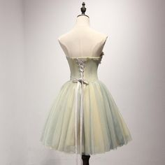 Unique Yellow and Green Sweetheart Homecoming Prom Dresses, Short Party Prom Dresses, Perfect Homecoming Dresses, CM203 - Thumbnail 2