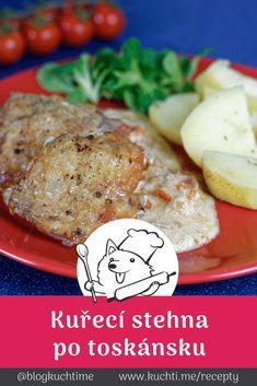 Pečená kuřecí stehna po toskánsku, co vás naprosto oslní. Co s kuřecími stehny? Pokud chcete výbornou změnu a jste omáčkoví stejně jako my, pak vám kuřecí stehna po toskánsku budou 100% chutnat :) | @blogkuchtime  | #recepty #jidlo #inspirace #vareni #kucharka #foodblog Camembert Cheese, Food, Essen, Meals, Yemek, Eten