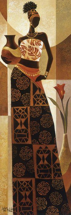 Kunst Bilder ideen - Naima by Keith Mallett - Beste Art Pins African Beauty, African Women, Afrique Art, African Paintings, African Prints, Arte Tribal, Black Artwork, Afro Art, Black Women Art