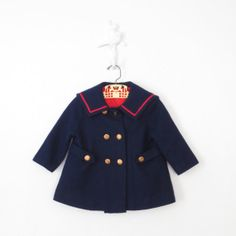 Sailor Coat and Bonnet // Vintage Baby Coat by sparvintheieletree, $42.00
