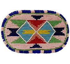 Pearl Finish Pink #Beaded Barrette -This barrette would make a lovely addition to any #Native American regalia. #PrairieEdge