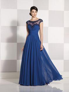 Cameron Blake | Style No. › 214683 | Chiffon A-line dress with cap sleeves…