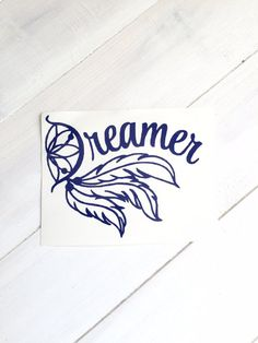 DIY Dreamer Vinyl Decal Dream Catcher & Feathers by VinylMeeThis