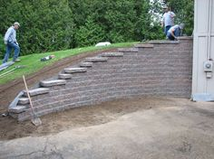 Landscaping Retaining Walls Pictures Ideas | Design Ideas & Decors. Near the garage